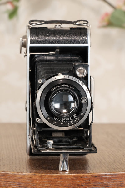Superb! 1934 Welta Perle 6x9 Medium Format Folder, Freshly Serviced, CLA'd! - Welta- Petrakla Classic Cameras