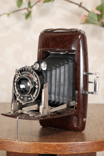 SUPERB! Rare 1934 Ebner 6x9 Brown Bakelite Art Deco Camera. Freshly serviced , CLA'd - Ebner- Petrakla Classic Cameras