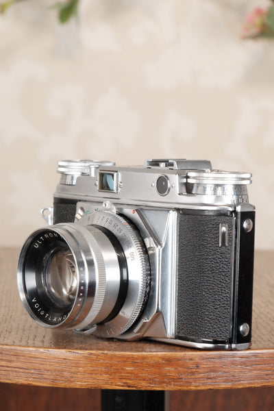 SUPERB!  Freshly Serviced VOIGTLANDER PROMINENT, 35mm Rangefinder Camera with Ultron lens  CLA'd - Voigtlander- Petrakla Classic Cameras