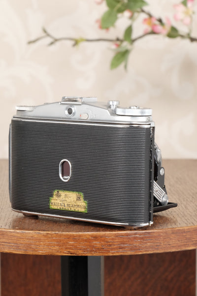 Superb, circa 1955 Agfa 6x6 Isolette II with custom red bellows, Freshly Serviced! CLA'd - Agfa- Petrakla Classic Cameras