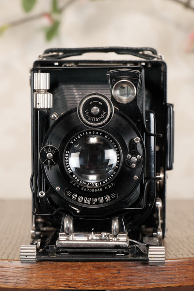 Absolutely Superb! Rare Green (De Luxe) Voigtlander 1932 Bergheil Camera with Heliar lens, Freshly serviced, CLA'd! - Voigtlander- Petrakla Classic Cameras