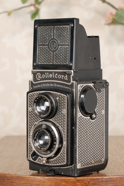 1935 Art-Deco Nickel-plated Rolleicord CLA'd, Freshley Serviced! - Petrakla Classic Cameras