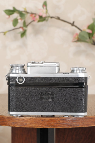 1937 Zeiss Ikon Contax, 35mm coupled rangefinder, with Sonnar lens, CLA'd, Freshly Serviced! - Zeiss-Ikon- Petrakla Classic Cameras
