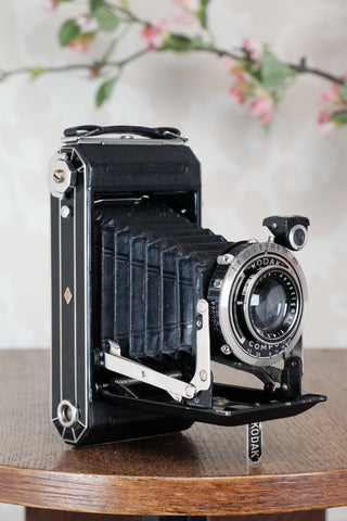 1935 Art Deco Kodak 6x9 camera, Freshly Serviced, CLA'd - Zeiss-Ikon- Petrakla Classic Cameras