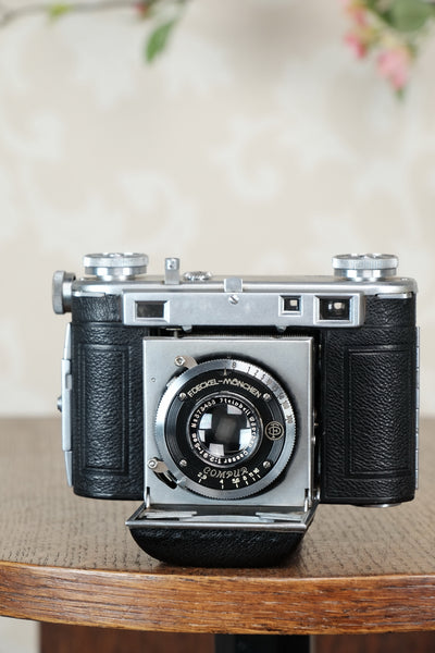 1938 Certo Super Dollina, 35mm coupled rangefinder camera with case, CLA'd, Freshly Serviced! - Certo- Petrakla Classic Cameras