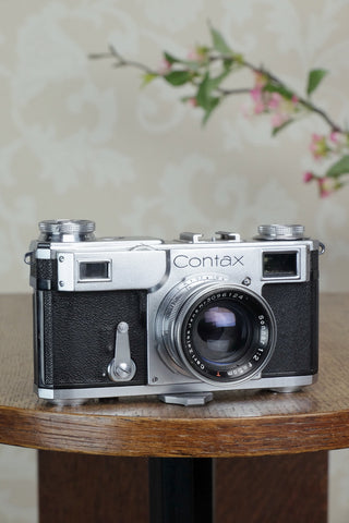 Excellent! 1937 Zeiss Ikon Contax II, CLA'd, Freshly Serviced!