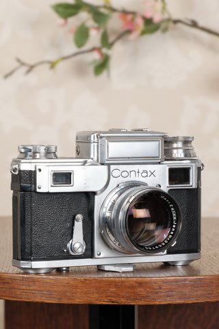 1940 Zeiss Ikon Contax with a 1.5/50mm T coated Sonnar. CLA'd, Freshly Serviced! - Petrakla Classic Cameras