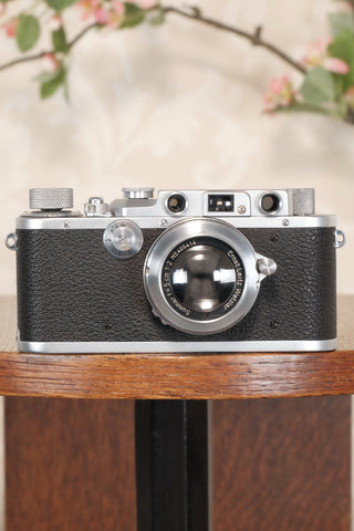 SUPERB! 1937 Leitz Leica IIIa, Freshly Serviced. CLA'd, Freshly Serviced! - Leitz- Petrakla Classic Cameras