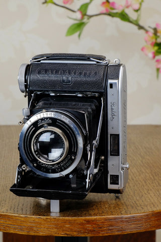 Rare! 1938 Balda Baldaxette, Coupled Rangefinder 6x4.5 folder, Freshly Serviced!