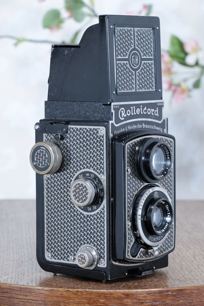 1935 Art-Deco Nickel-plated Rolleicord  CLA's, Freshly Serviced! - Frank & Heidecke- Petrakla Classic Cameras
