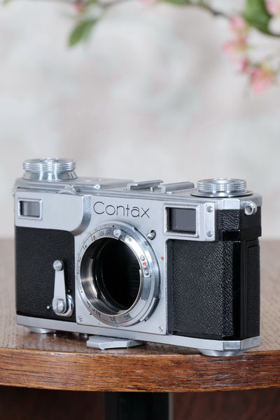 Near mint! 1939 Zeiss Ikon Contax II Body,  CLA'd, Freshly Serviced! - Petrakla Classic Cameras