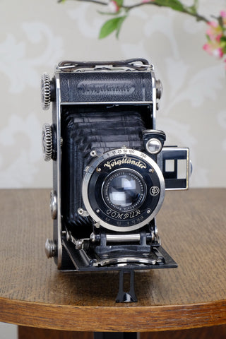 1934 Voigtlander Inos II 6x9 Folder, with Heliar lens! CLA'd, Freshly Serviced!