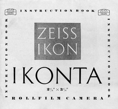 Instructions fur using the Ikonta 523-2, PDF DOWNLOAD! - Zeiss-Ikon- Petrakla Classic Cameras
