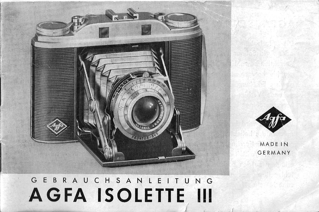 Agfa Isolette III, Gebrauchsanleitung. PDF Download! - Agfa- Petrakla Classic Cameras
