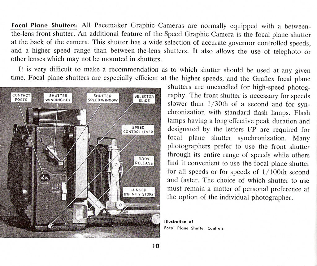 Graflex- · Crown Graphic and Speed Graphic Instruction and reference manual,  PDF DOWNLOAD!