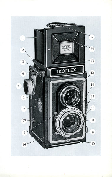 Ikoflex Ia Instruction book (Stuttgart) (Original). Free Shipping! - Zeiss-Ikon- Petrakla Classic Cameras
