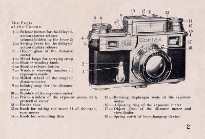 9 SUPERB Zeiss Ikon Contax I II III IIa IIIa manuals and much more, PDFs DOWNLOAD! - Zeiss-Ikon- Petrakla Classic Cameras