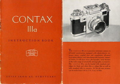 9 SUPERB Zeiss Ikon Contax I II III IIa IIIa manuals and much more, PDFs DOWNLOAD! - Petrakla Classic Cameras