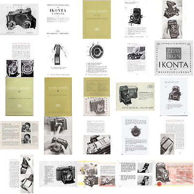 14 SUPERB Zeiss Ikon (Super) Ikonta manuals, PDFs DOWNLOAD! - Petrakla Classic Cameras