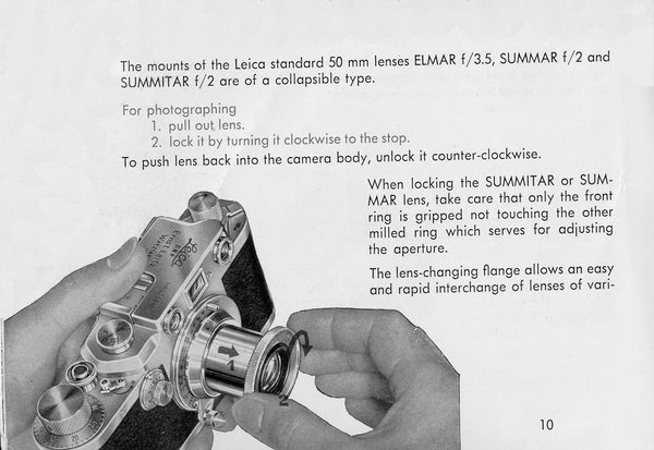 Directions for using Leica model IIIc, PDF DOWNLOAD! - Leitz- Petrakla Classic Cameras