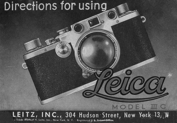Directions for using Leica model IIIc, PDF DOWNLOAD!