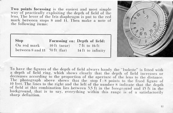 Agfa Isolette III, instruction for use. PDF Download! - Agfa- Petrakla Classic Cameras