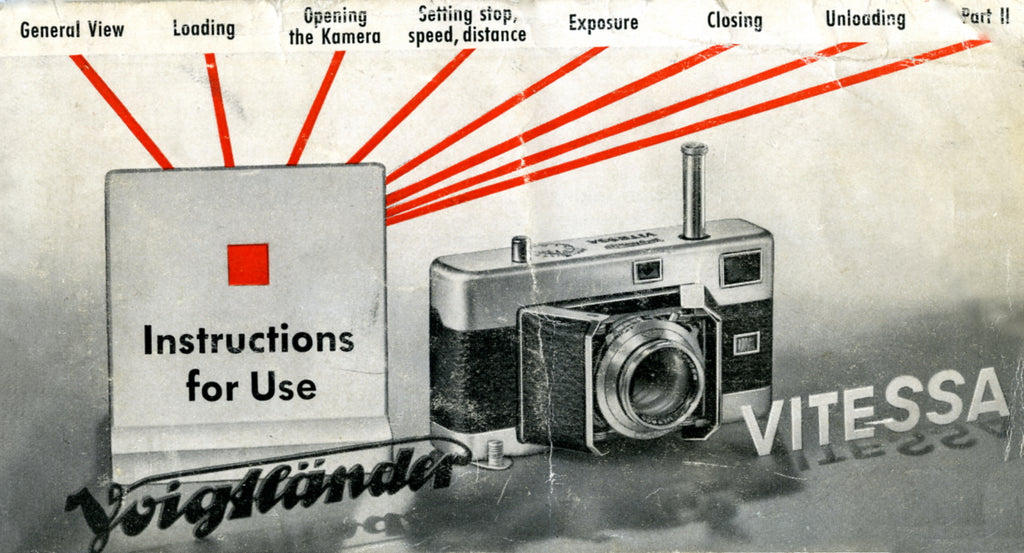 Voigtlander Vitessa, instructions for use. PDF DOWNLOAD! - Voigtlander- Petrakla Classic Cameras
