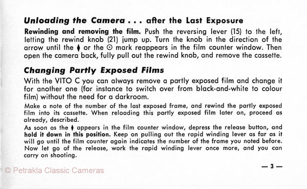Voigtlander Vito C, Instructions for use. PDF DOWNLOAD! - Voigtlander- Petrakla Classic Cameras