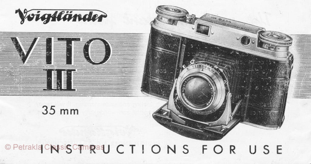 Voigtlander Vito III 35mm Instruction book. PDF DOWNLOAD! - Voigtlander- Petrakla Classic Cameras