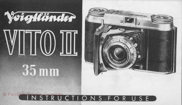Voigtlander Vito II, Instructions for use. PDF DOWNLOAD! - Voigtlander- Petrakla Classic Cameras