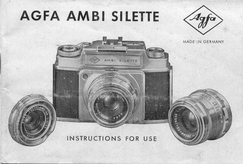 Agfa Ambi Silette, Instructions for use. - Petrakla Classic Cameras