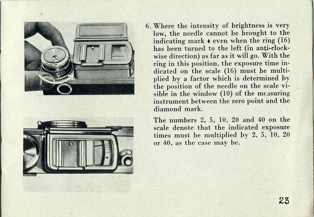 Instructions for Contax II and III English 1948, PDF DOWNLOAD!