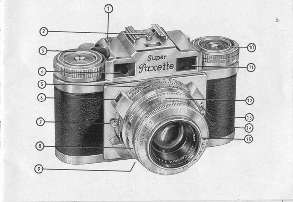 Braun Super Paxette II, Instruction book. - Braun- Petrakla Classic Cameras