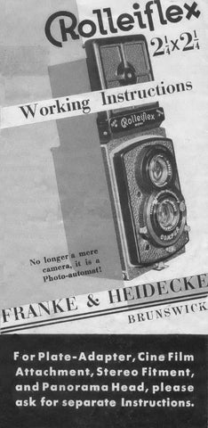 Rolleiflex Old Standard working instructions (PDF) - Petrakla Classic Cameras