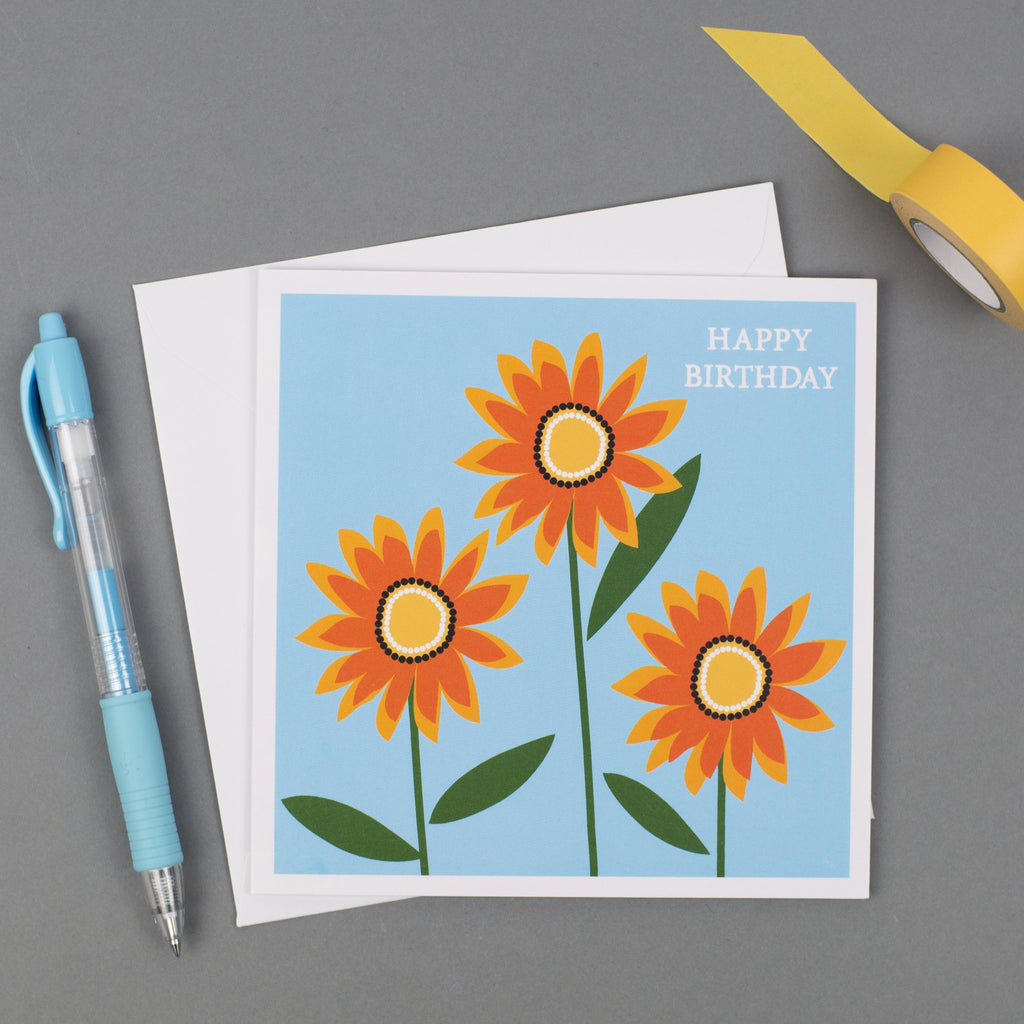 Gazania Birthday Card