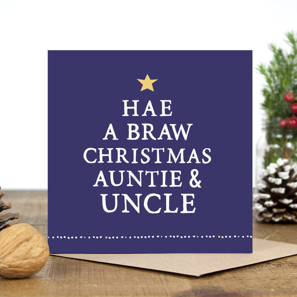 'Hae A Braw Christmas' Auntie & Uncle Card