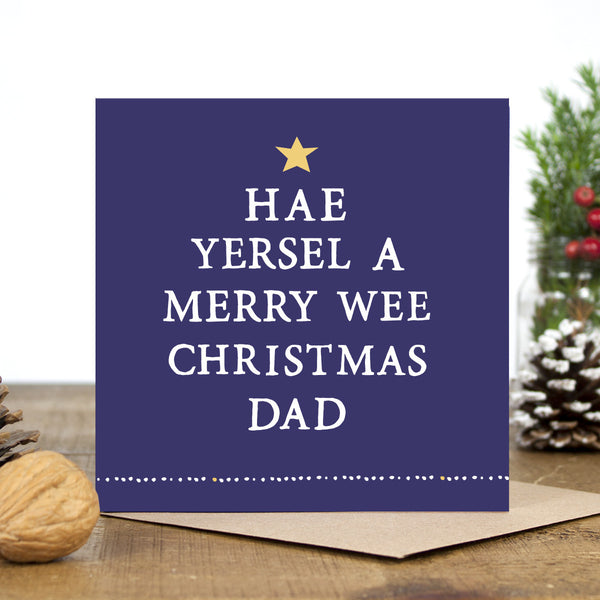 'Hae A Merry Wee Christmas' Dad Card