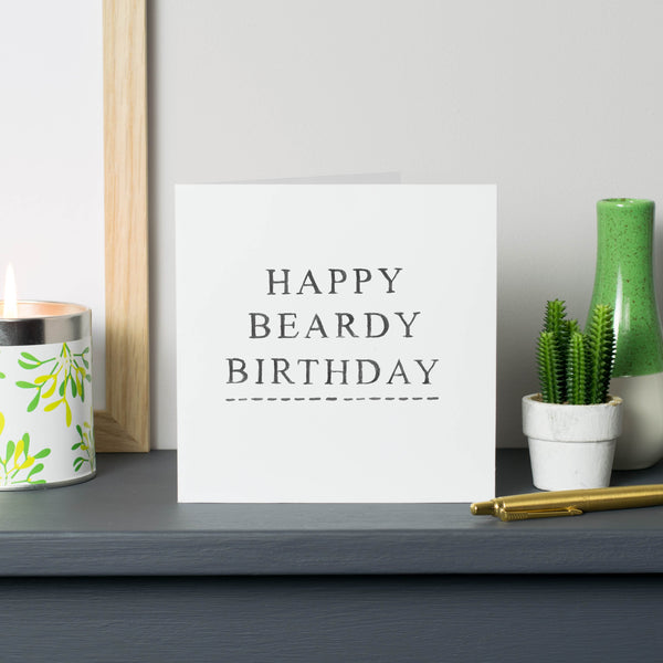 'Happy Beardy Birthday' Card
