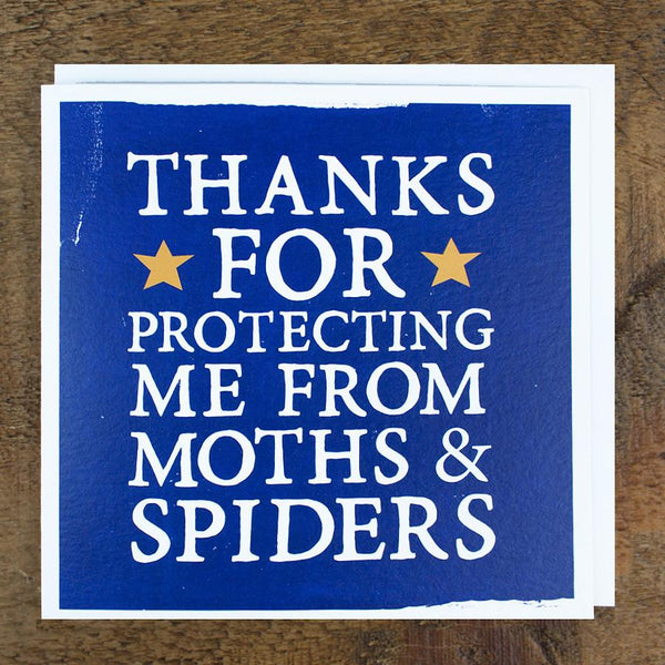 'Moths & Spiders' Card