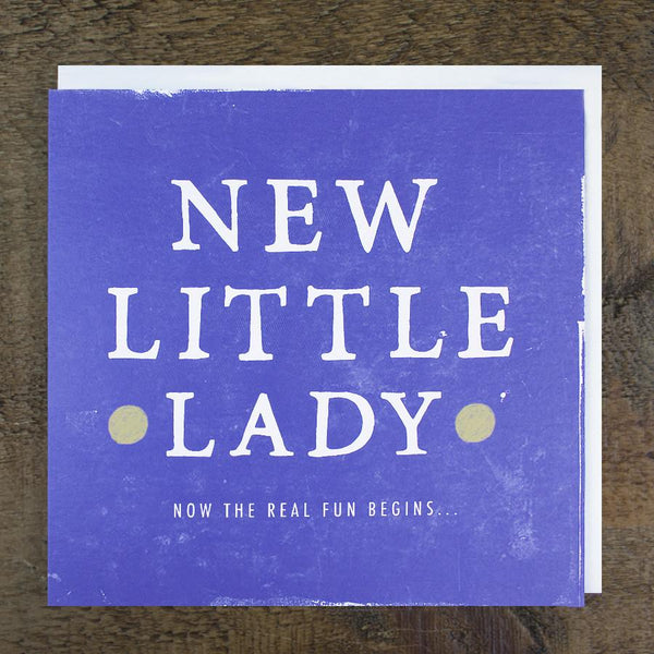 'New Little Lady' Card