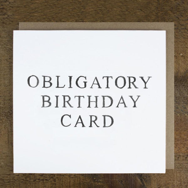 'Obligatory Birthday Card'