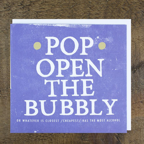 'Pop Open The Bubbly' Card