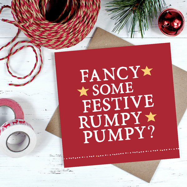 'Festive Rumpy Pumpy' Christmas Card