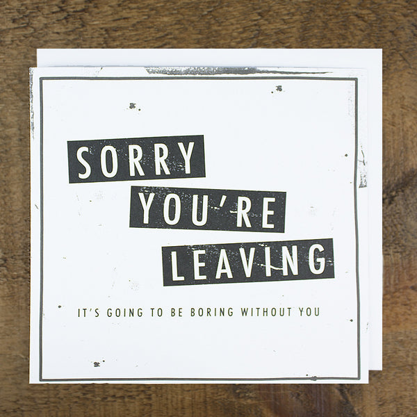'Boring Without You' Card