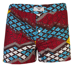 2 Pack Printed Boxer Shorts- Tetris - OHEMA OHENE AFRICAN INSPIRED FASHION  - 3