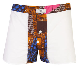White 2 Pack Boxers Shorts - OHEMA OHENE AFRICAN INSPIRED FASHION  - 1