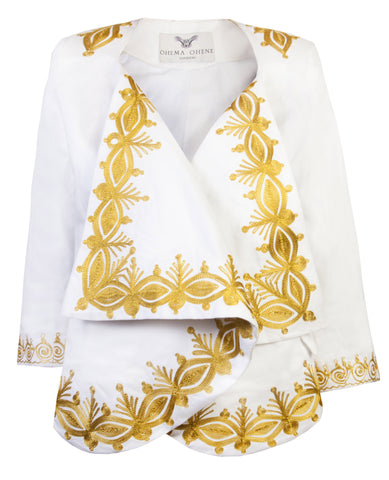 Katie- Waterfall embroidered jacket