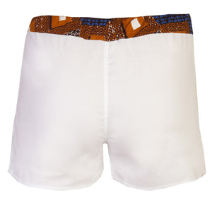 White 2 Pack Boxers Shorts - OHEMA OHENE AFRICAN INSPIRED FASHION  - 2