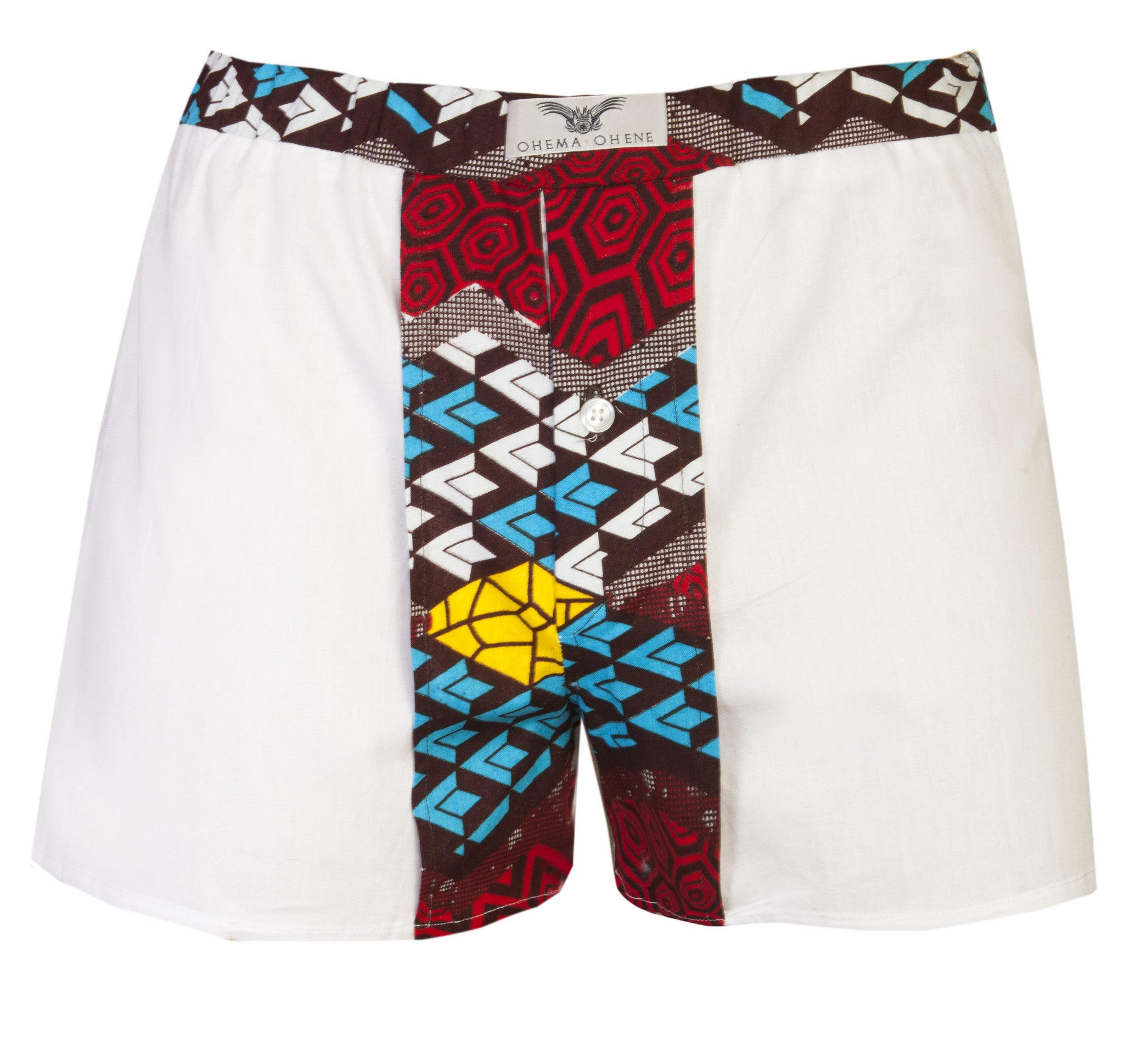 White 2 Pack Boxers Shorts - OHEMA OHENE AFRICAN INSPIRED FASHION  - 3