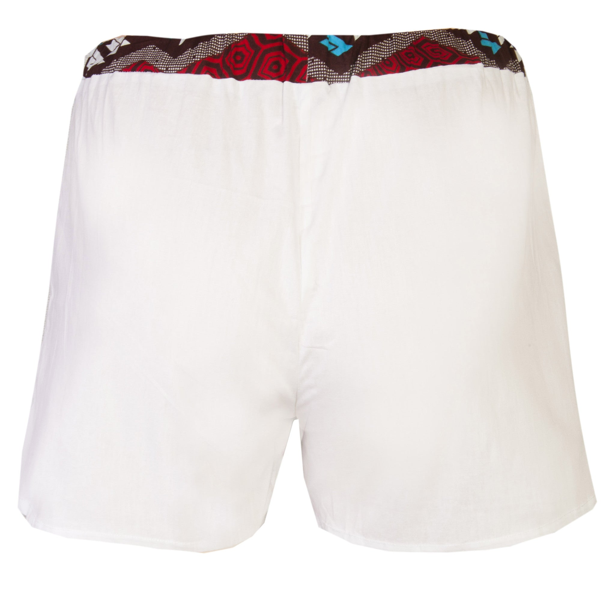 White 2 Pack Boxers Shorts - OHEMA OHENE AFRICAN INSPIRED FASHION  - 4